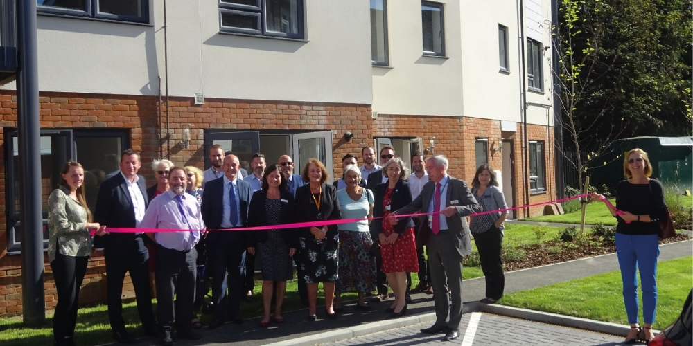 The official opening of Alden Court, Horsham