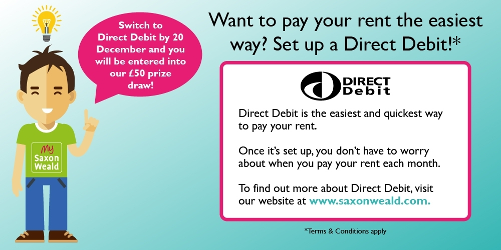 Want to pay your rent the easiest way? Set up a direct debit!